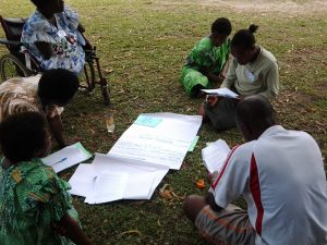 A CRPD training session for people with disability and community leaders held in Lenakel, Tanna in August 2013.
